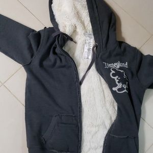Disney thick zip up lined hoodie